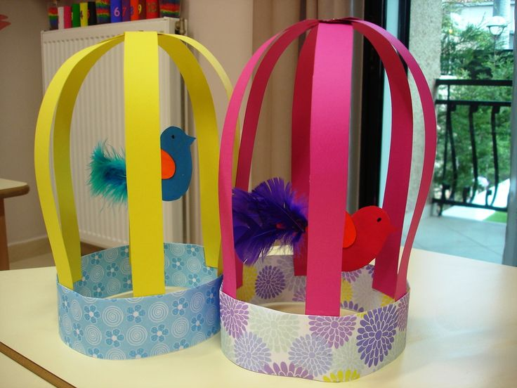 Adorable paper bird cages!!!