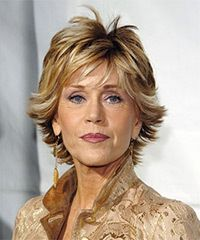feathered hairstyles for medium length hair | Jane Fonda Hairstyles | Celebrity Hairstyles by TheHairStyler.com