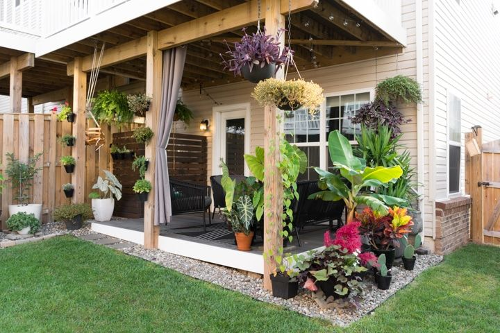 Small Townhouse Patio Ideas and My Gorgeous Tiny Backyard ...
