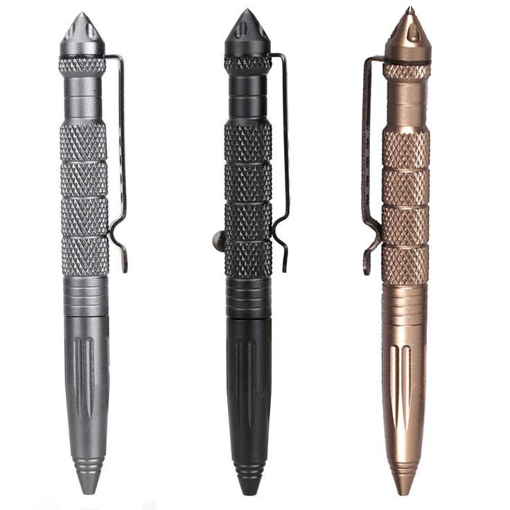 Hot Sale Portabel Taktis Pen Bela Diri Cooyoo Alat Aviation Aluminium anti-selip 3 Warna