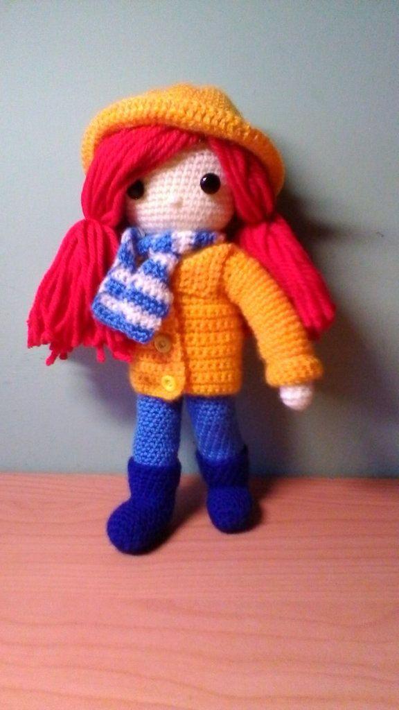 Bambola  in lana diversi tipi: scolari, sotto la pioggia, contadina ecc..., by Le creazioni di Edi, 20,00 € su misshobby.com
