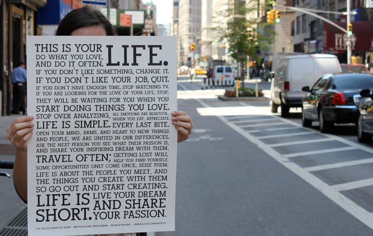 HOLSTEEHolstee Manifesto, Perfect Graphics, Everyday Perfect, Life Manifesto, Happy, Living