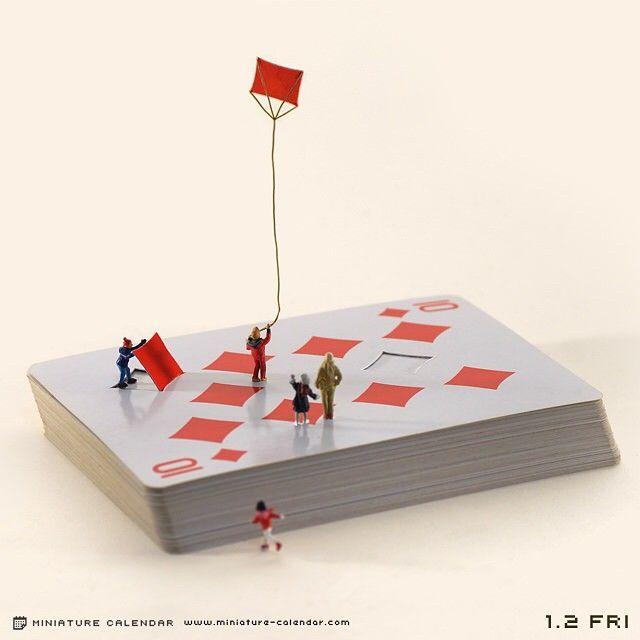 Figuras en miniatura y escenas llenas de detalles en la galería de Tanaka Tatsuya - Instagram #miniatures #creativity #photoart