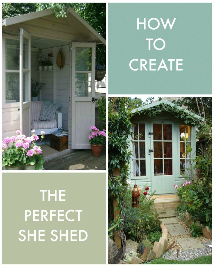 How to create the perfect she shed - Kat got the Cream