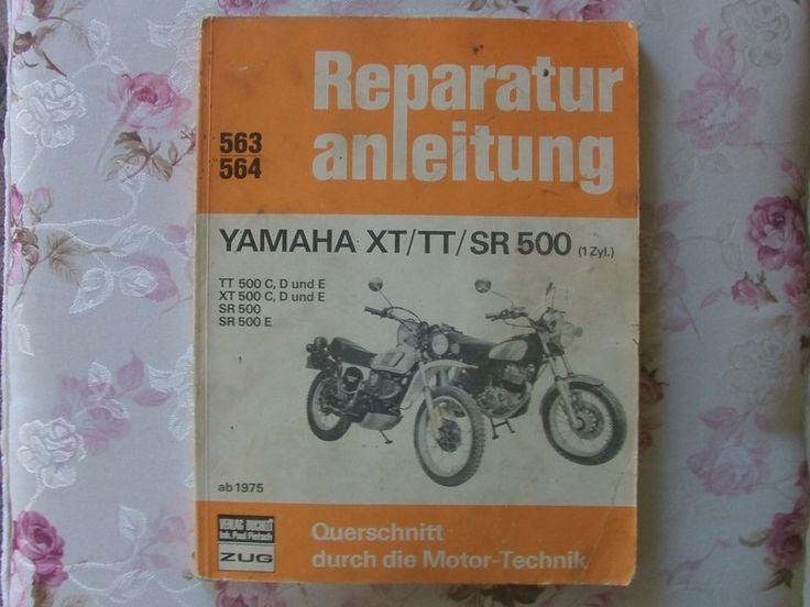 Vintage Ratgeber & Sachbücher - alte Reparaturanleitung Yamaha XT/TT/SR 500  - ein Designerstück von Manus-kleine-Vintage-Schatzkiste bei DaWanda