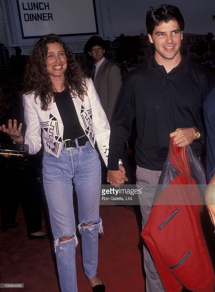 Mimi Rogers and Paul Abbott during 'Point Break' Los Angeles Premiere in Hollywood, California, United States.