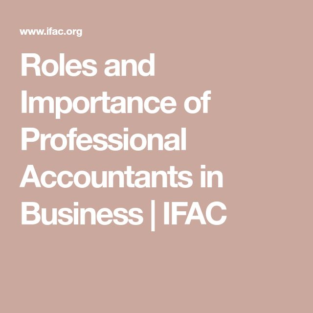 Roles and Importance of Professional Accountants in Business | IFAC