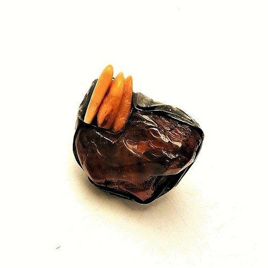 An amber big ring for a connoisseur loving unique rings :). Extra GIFT // Bursztynowy wielki pierścień dla koneserki kochającej unikaty :). PREZENT extra