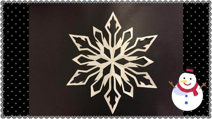 17 meilleures images propos de kirigami sur pinterest - Flocon de neige en papier pliage ...