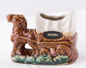 Portastuzzicadenti vintage Arizona Souvenir carro coperto