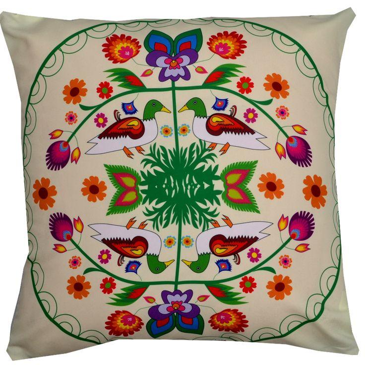Designerska poduszka dekoracyjna Folk № gd412