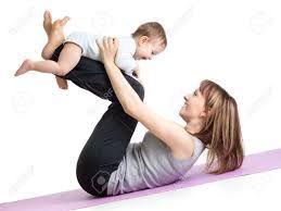 Znalezione obrazy dla zapytania Fitness with a Baby