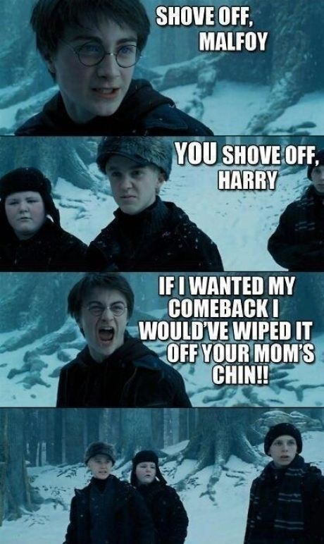 Dirty Malfoy's Mom Joke