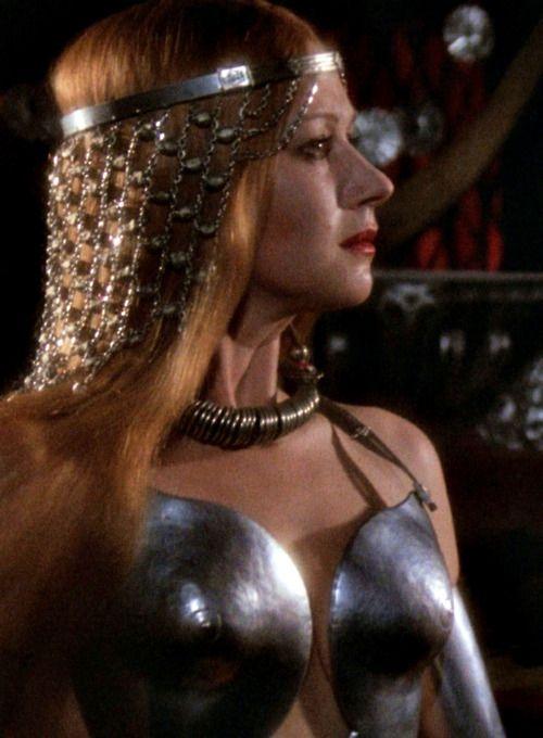 Helen Mirren as Morgana in the 1981 Excalibur film.