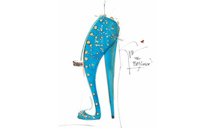 A l'occasion de sa tournée mondiale, the Mrs Carter Show World Tour, la chanteuse américaine a demandé au créateur italien de lui dessiner de fabuleuses chaussures de scène.