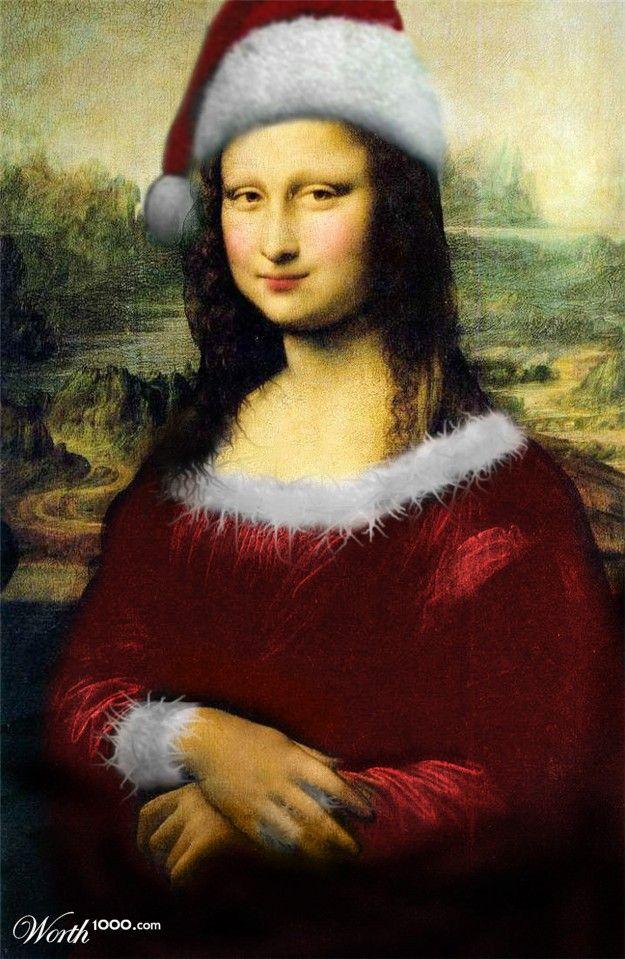 Mona santa OR   Monalisa does Christmas