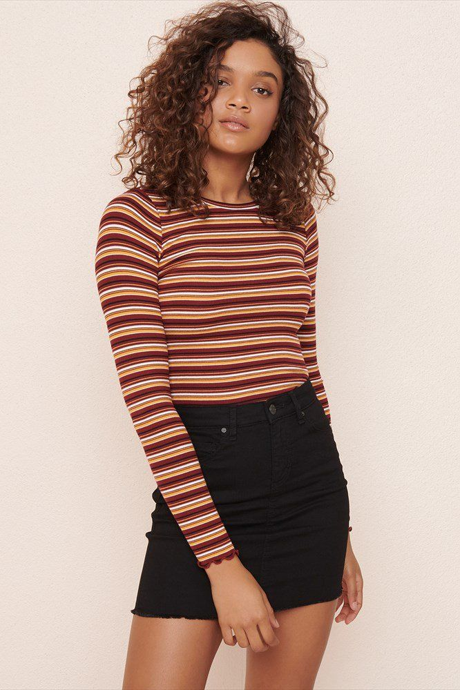 a0f5751eba95c Retro High Waist Denim Mini Skirt