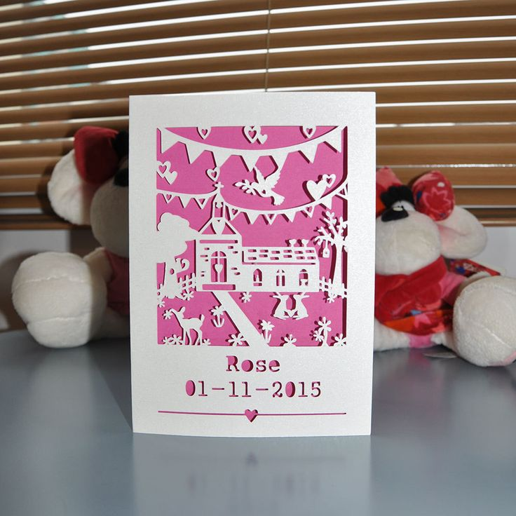 Personalised Christening/ Baptism Card by LauraJeffriesShop