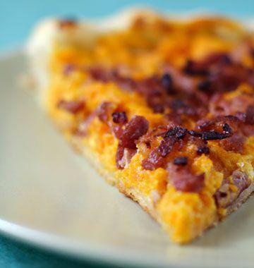 Tarte aux carottes et lardons - Recettes de cuisine Ôdélices