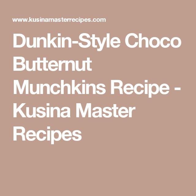 Dunkin-Style Choco Butternut Munchkins Recipe - Kusina Master Recipes