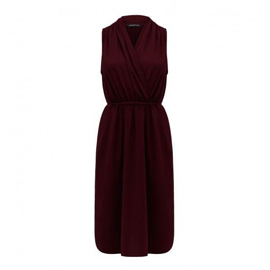 Anna wrap front tie waist dress