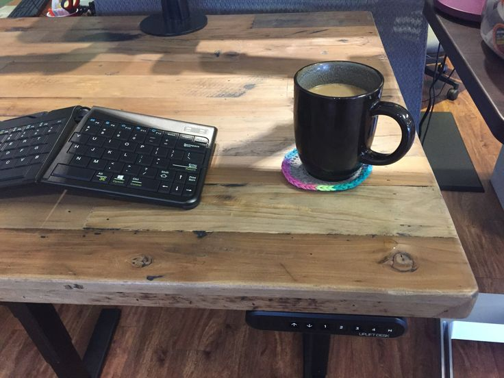 An UPLIFT Stand Up Desk With Reclaimed Wood Top Is Eco Friendly Way To At Work Featuring Eye Catching Real Available Now Human Solution