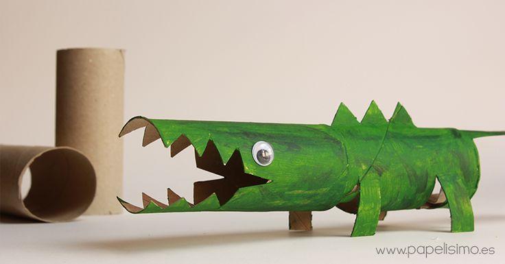 cocodrilo rollo carton papel higienico toilet paper tube cocodrile