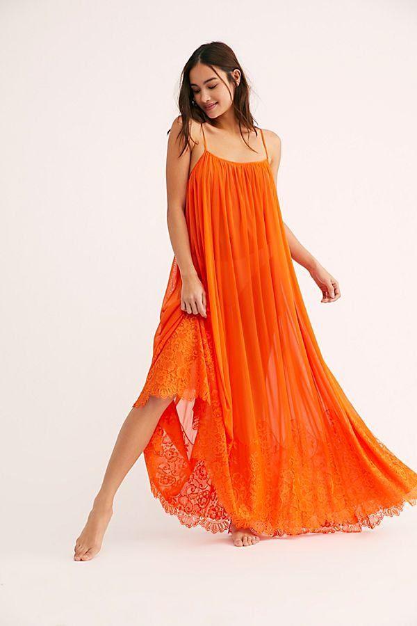c2ccdb2d4c7 Mad Maxi Dress Slip - Flowy Orange Maxi Shift Dress - Flowy Maxi Dresses -  Orange