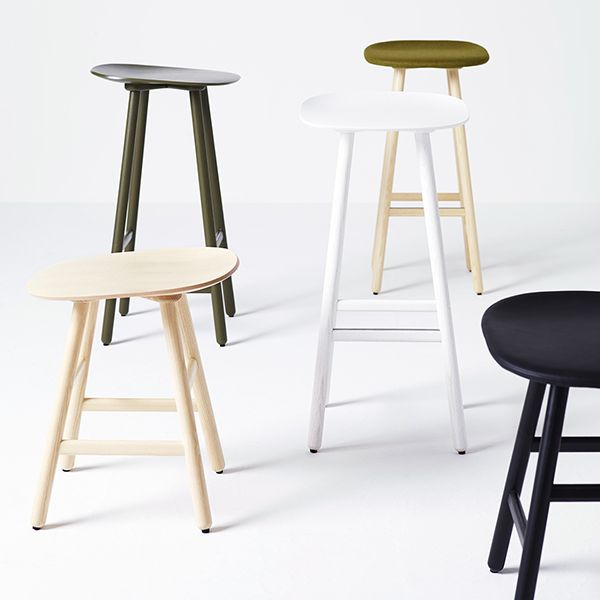 Shell stool has the clean lines and innovative combination of materials that are the signature features of Scandinavian design.