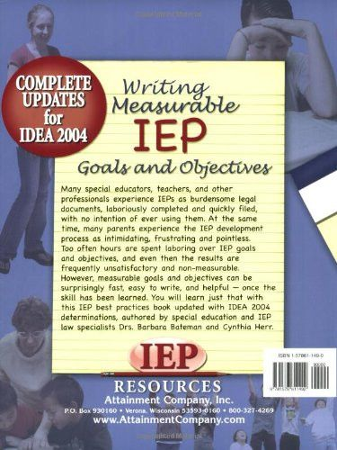writing measurable iep goals and objectives Writing measurable iep goals and objectives • quincy conference 20 • presented by kristin hamby & katie stegner • 2015-2016.