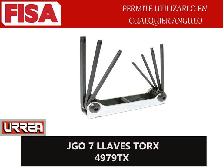 JGO 7 LLAVES TORX 4979TX. Permite utilizarlo en cualquier angulo- FERRETERIA INDUSTRIAL -FISA S.A.S Carrera 25 # 17 - 64 Teléfono: 201 05 55 www.fisa.com.co/ Twitter:@FISA_Colombia Facebook: Ferreteria Industrial FISA Colombia