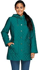 Joan Rivers Classics Collection Joan Rivers Quilted Coat with Hood