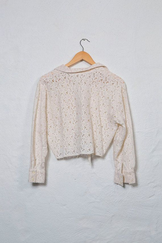 90's Lace Crop Top by AlfieandGinger on Etsy