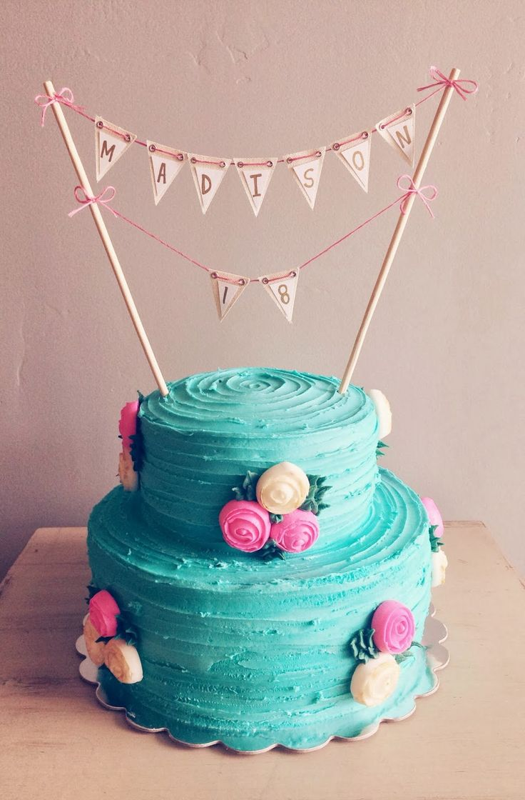 18th Birthday cake on 2sweets.blogspot.com
