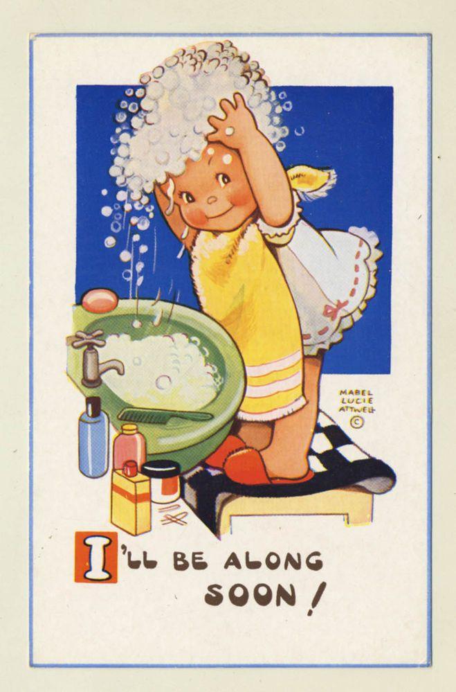 Mabel Lucie Attwell Artist Signed Vintage Postcard Valentine's no: 6225