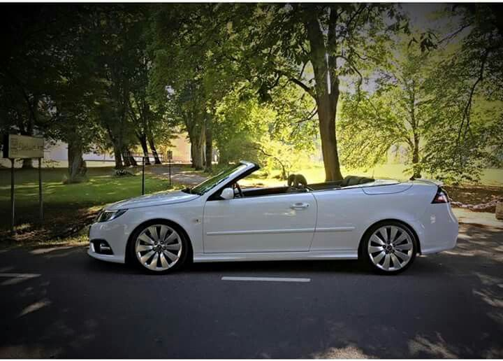 Saab 9-3 convertible white dress.
