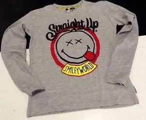 Maglietta bambino SMILEY WORLD genius manica lunga da 2 a 10 anni idea regalo | eBay