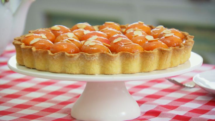 This apricot frangipane tart recipe is Mary's interpretation of a signature challenge in Season 3 of the Great British Baking Show.
