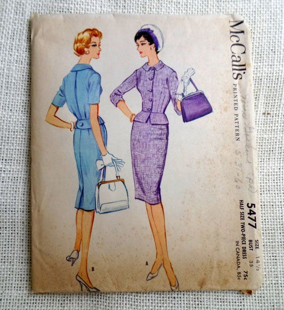 Vintage Pattern McCall's 5477 dress sewing by momandpopcultureshop, $32.00
