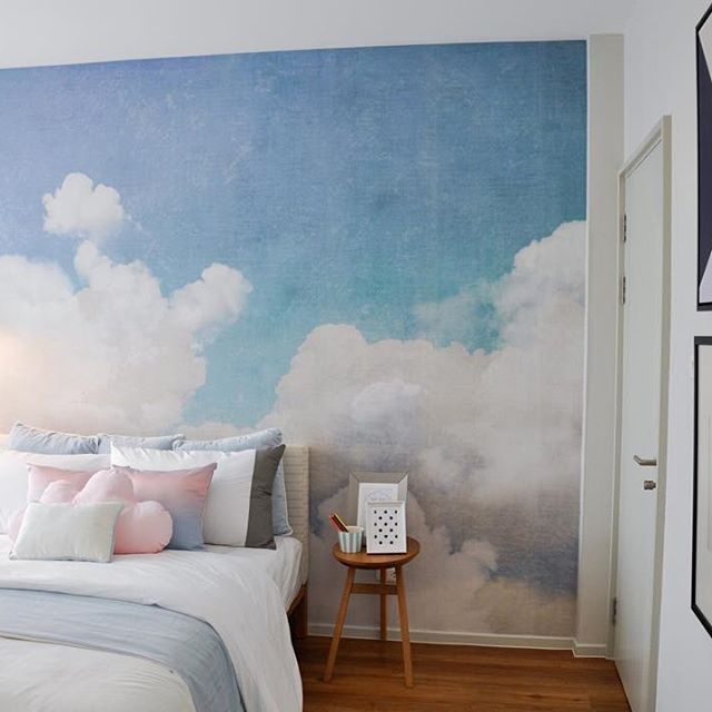 Feeling Cotton Candy  Interior design by @properique_official #pinpinabkk #rebelwalls #cottoncandy #bedroomdecor