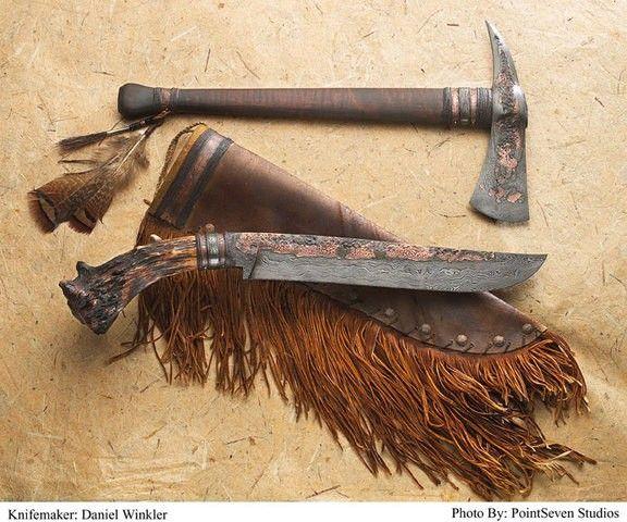 Winkler's Rifleman's Knife & matching hawk