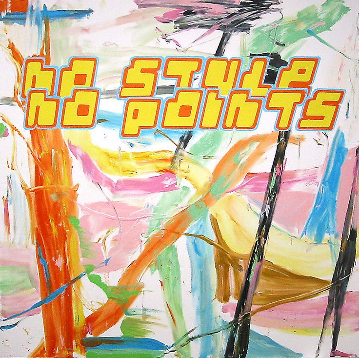 No Style No Points  2002  Acrylic on canvas  118.11 x 118.11 inches