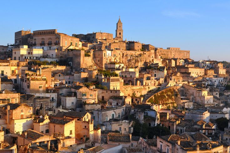 Matera, Italy. Sunrise on a sleepy old city