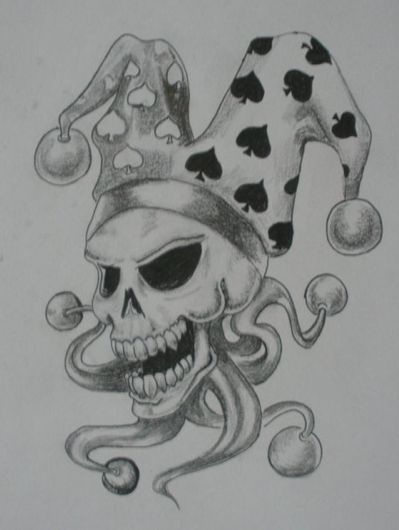 Skull Jester tattoo no2 by kaydeeire on DeviantArt