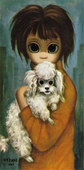 """This was in my room when I was a girl...I wonder where my Mom got it.....""""Child with Gauguin"""" ~ Margaret Keane, 1964"""