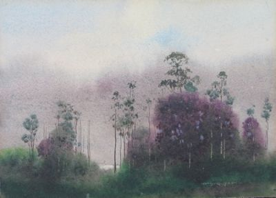 Saplings by (William) Blamire Young.  Watercolourist