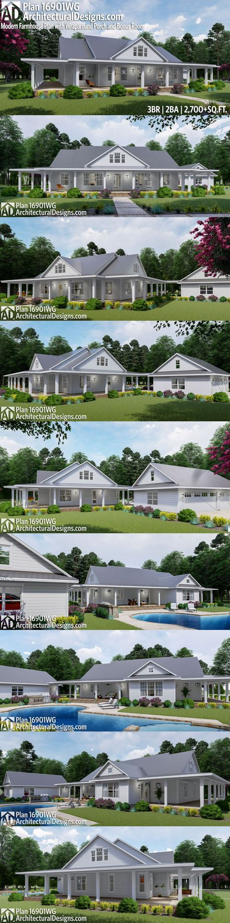 Architectural Designs Modern Farmhouse Plan 16901WG Gives You 3 Beds 2 Baths And Over 2700