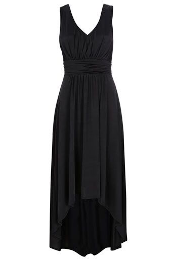 Wallis US Black Grecian High-Low Maxi Dress