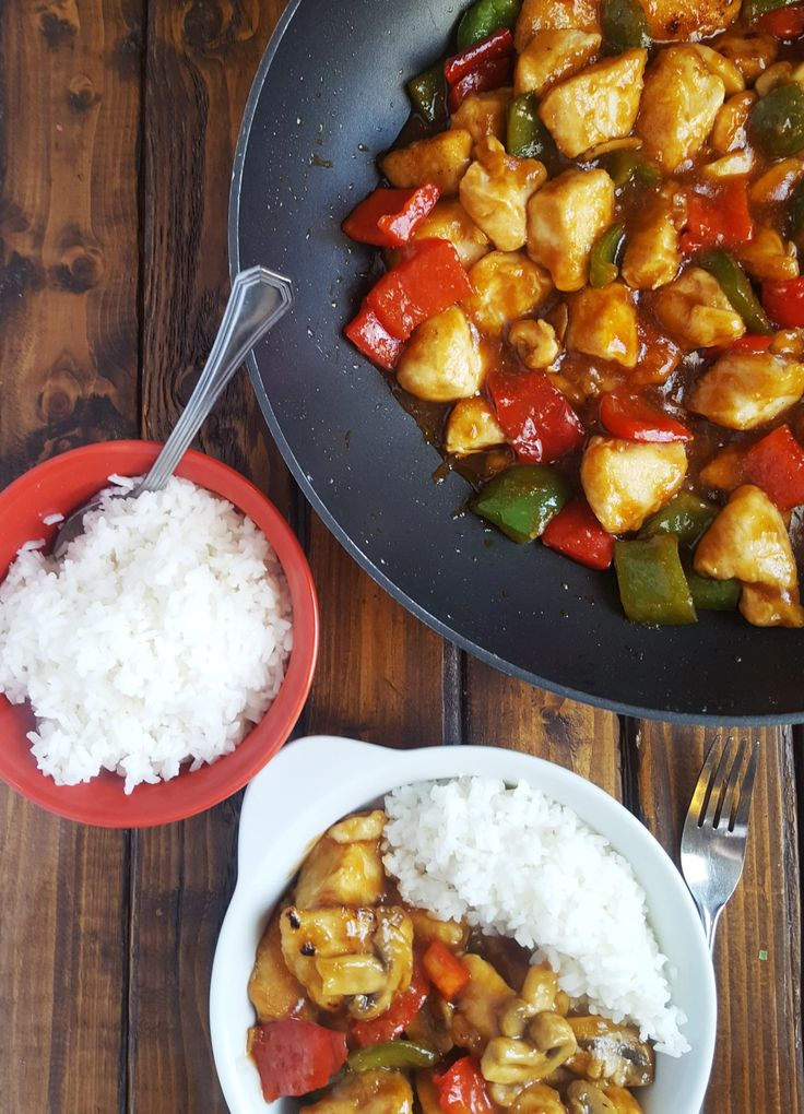 No need for take out with this Easy Healthier Sweet and Sour Chicken recipe.  This homemade version is much better for you and has tons of flavor.