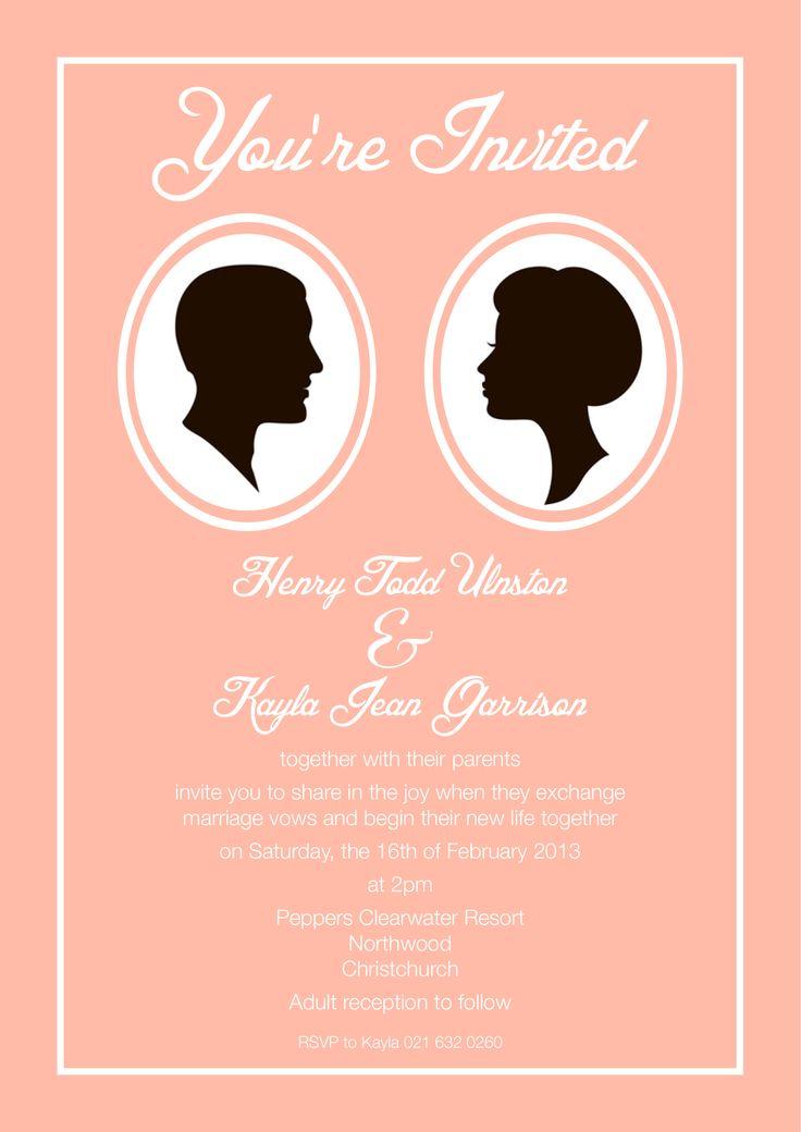 Henry & Kayla's Invite - www.chicdesign.co.nz